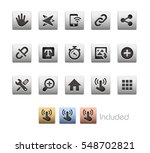 interface icons   the vector... | Shutterstock .eps vector #548702821