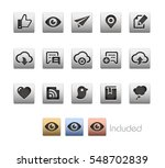 interface icons   the vector... | Shutterstock .eps vector #548702839