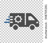 cobalt and gray service car... | Shutterstock .eps vector #548705281