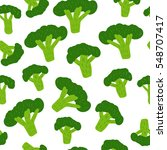 seamless pattern with broccoli. | Shutterstock .eps vector #548707417