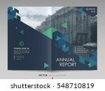 cover design annual report... | Shutterstock .eps vector #548710819