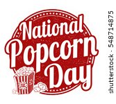 national popcorn day grunge... | Shutterstock .eps vector #548714875