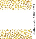 vector background with gold... | Shutterstock .eps vector #548718211