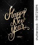 happy new year golden hand... | Shutterstock . vector #548725894