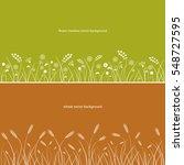 wheat field and flower meadow... | Shutterstock .eps vector #548727595