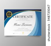 certificate template awards... | Shutterstock .eps vector #548735047