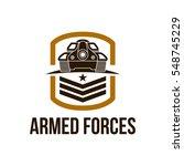 battle tank logo design template | Shutterstock .eps vector #548745229