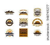 battle ship logo design template | Shutterstock .eps vector #548745277