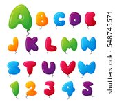 balloon alphabet vector set. | Shutterstock .eps vector #548745571