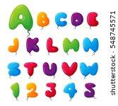 balloon alphabet vector set. | Shutterstock .eps vector #548745571