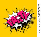 comic text sound effects.... | Shutterstock .eps vector #548747425
