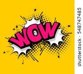 cartoon exclusive font label... | Shutterstock .eps vector #548747485