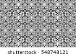 black and white ornament. k | Shutterstock . vector #548748121