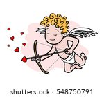 love cupid holding a heart...