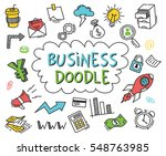 set of business doodle on white ... | Shutterstock .eps vector #548763985