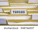 Tender Word On Card Index Paper