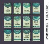 vintage banners cards set....   Shutterstock .eps vector #548767504