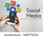 internet social media network... | Shutterstock . vector #548770261
