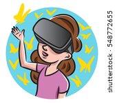 A Young Girl Wearing Virtual...