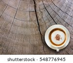 coffee cup on wooden background ... | Shutterstock . vector #548776945
