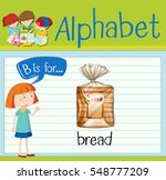 flashcard letter b is for bread ... | Shutterstock .eps vector #548777209