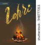 happy lohri punjabi festival.... | Shutterstock .eps vector #548777311