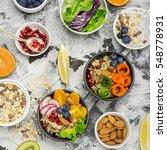 vegetarian quinoa bowl. healthy ... | Shutterstock . vector #548778931