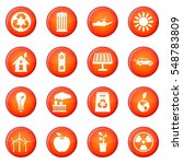 ecology icons  set of red... | Shutterstock . vector #548783809
