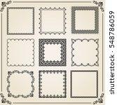 vintage set of elements....   Shutterstock .eps vector #548786059