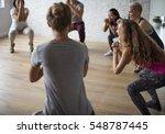 diversity people exercise class ... | Shutterstock . vector #548787445