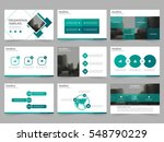 Green square Abstract presentation templates, Infographic elements template flat design set for annual report brochure flyer leaflet marketing advertising banner template | Shutterstock vector #548790229