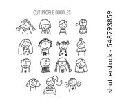 children doodles  people concept | Shutterstock .eps vector #548793859