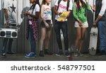 people friendship music radio... | Shutterstock . vector #548797501