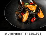 Italian Black Pasta With...
