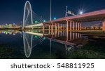 the margaret hunt hill bridge...   Shutterstock . vector #548811925