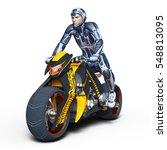 3d cg rendering of a super hero ... | Shutterstock . vector #548813095