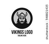 viking head logo design  | Shutterstock .eps vector #548821435