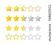 rating stars set gold  silver... | Shutterstock .eps vector #548825521