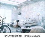 white vintage style. 3d render... | Shutterstock . vector #548826601