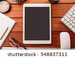 mockup tablet similar to ipad...   Shutterstock . vector #548837311