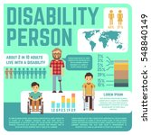 disabled people vector medical... | Shutterstock .eps vector #548840149