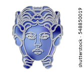 bright woman portrait  zodiac... | Shutterstock .eps vector #548850019