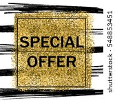 elegant special offer on gold... | Shutterstock .eps vector #548853451