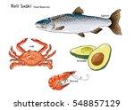 Raw Fish Roll Food Reserves...