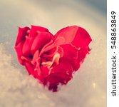 Flower In The Shape Of A Heart...