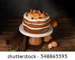 the chocolate cake with... | Shutterstock . vector #548865595