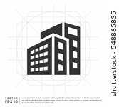 buildings icons   | Shutterstock .eps vector #548865835