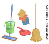 cartoon trendy cleaning service ... | Shutterstock .eps vector #548867599