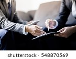 business partners discussing... | Shutterstock . vector #548870569