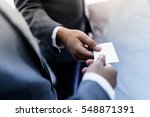 business executive exchanging...   Shutterstock . vector #548871391